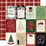 A Cozy Christmas: 3x4 Journaling Cards 12x12 Patterned Paper