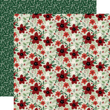 A Cozy Christmas: Joyful Floral 12x12 Patterned Paper