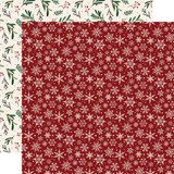 A Cozy Christmas: Snowflakes 12x12 Patterned Paper