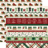 A Cozy Christmas: Border Strips 12x12 Patterned Paper