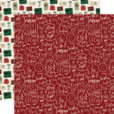 A Cozy Christmas: Merry & Blessed 12x12 Patterned Paper