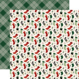 A Cozy Christmas: Stockings 12x12 Patterned Paper