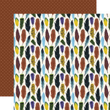 Adventure Awaits: Fearless Feathers 12x12 Patterned Paper