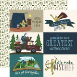 Adventure Awaits: 4x6 Journaling Card 12x12 Patterned Paper