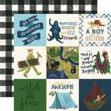 Adventure Awaits: 4x4 Journaling Card 12x12 Patterned Paper