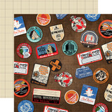 All Aboard: Luggage Stickers 12x12 Patterned Paper