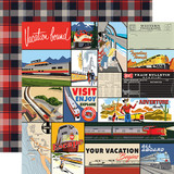 All Aboard: Multi Journaling Cards 12x12 Patterned Paper