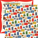 All Aboard: Luggage 12x12 Patterned Paper