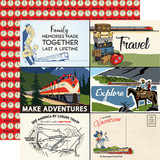 All Aboard: 4x6 Journaling Cards 12x12 Patterned Paper