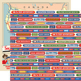 All Aboard: All Aboard Words 12x12 Patterned Paper