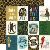 Animal Safari: 3x4 Journaling Cards 12x12 Patterned Paper