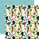 Animal Safari: Birds of Paradise 12x12 Patterned Paper
