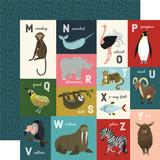 Animal Safari: M-Z Animal Alphabet Cards 12x12 Patterned Paper