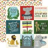 Animal Safari: 4x4 Journaling Cards 12x12 Patterned Paper
