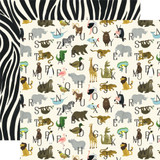 Animal Safari: Zoo Letters 12x12 Patterned Paper