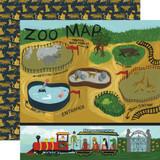 Animal Safari: Zoo Map 12x12 Patterned Paper