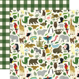 Animal Safari: It's a Zoo 12x12 Patterned Paper