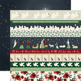 Away in a Manger: Border Strips 12x12 Patterned Paper