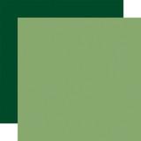 Away in a Manger: Light Green/Dark Green 12x12 Solid Paper