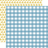 Baby Boy: Boy Gingham 12x12 Patterned Paper