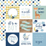 Baby Boy: 4X4 Journaling Cards 12x12 Patterned Paper