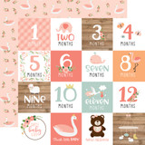 Baby Girl: Milestone Cards 12x12 Patterned Paper