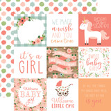 Baby Girl: 4X4 Journaling Cards 12x12 Patterned Paper