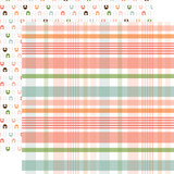 Baby Girl: New Arrival Plaid 12x12 Patterned Paper
