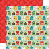 Back to School: Backpacks 12x12 Patterned Paper