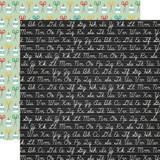 Back to School: Chalkboard Cursive 12x12 Patterned Paper