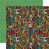 Back to School: Alphabet Scramble 12x12 Patterned Paper