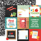Back to School: 4x4 Journaling Cards 12x12 Patterned Paper