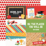 Back to School: 4x6 Journaling Cards 12x12 Patterned Paper