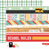 Back to School: Border Strips 12x12 Patterned Paper