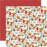 Bark: Puppy Icons 12x12 Patterned Paper