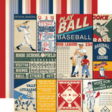 Baseball: Multi Journaling Cards 12x12 Patterned Paper