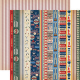 Baseball: Border Strips 12x12 Patterned Paper
