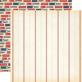 Baseball: Baseball Thread 12x12 Patterned Paper