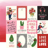 Be My Valentine: 3x4 Journaling Cards 12x12 Patterned Paper