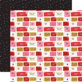 Be My Valentine: Love Letters 12x12 Patterned Paper