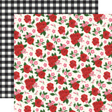 Be My Valentine: Valentine's Floral 12x12 Patterned Paper