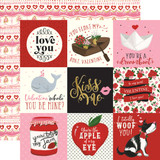 Be My Valentine: 4x4 Journaling Cards 12x12 Patterned Paper