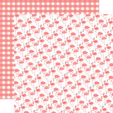 Best Summer Ever: Flamingos 12x12 Patterned Paper