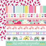 Best Summer Ever: Border Strips 12x12 Patterned Paper