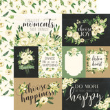 Botanical Garden: White Rose Journaling Cards 12x12 Patterned Paper