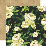Botanical Garden: White Rose Bouquet 12x12 Patterned Paper