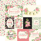 Botanical Garden: Sweet Pea Journaling Cards 12x12 Patterned Paper