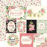 Botanical Garden: Sweet Pea Journaling Cards 12x12 Patterned Paper