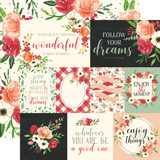 Botanical Garden: Poppy Journaling Cards 12x12 Patterned Paper