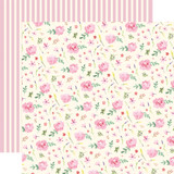Botanical Garden: Daisy Wreath 12x12 Patterned Paper